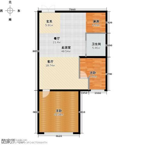 石林中心城2室0厅1卫0厨90.00㎡户型图