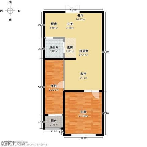 石林中心城2室0厅1卫0厨80.00㎡户型图