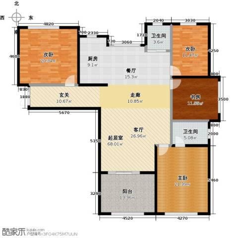 石林中心城4室0厅2卫0厨170.00㎡户型图