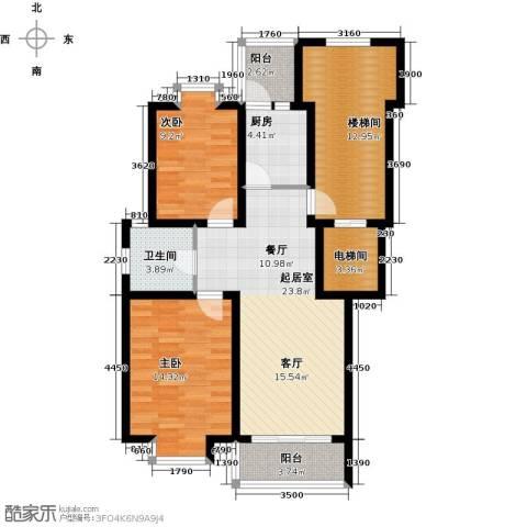 珑�庭2室0厅1卫1厨91.00㎡户型图