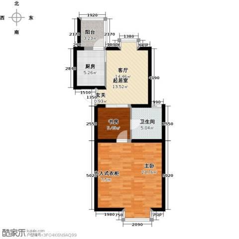 珑�庭2室0厅1卫1厨65.00㎡户型图