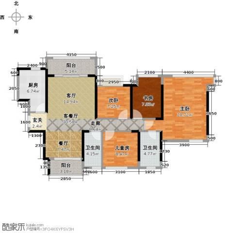 名巨中央花园4室1厅2卫1厨139.00㎡户型图