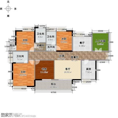 港口国际4室1厅3卫1厨175.00㎡户型图