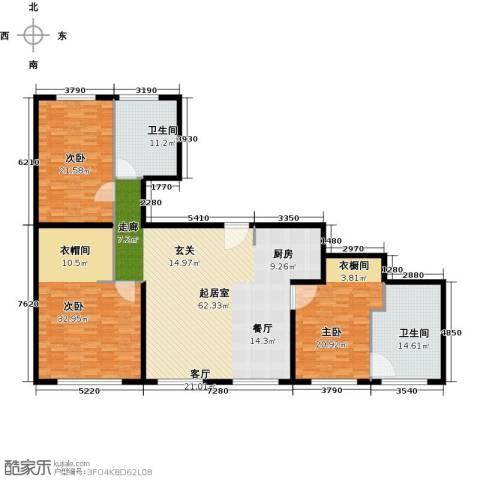 万科公园五号3室0厅2卫0厨178.00㎡户型图