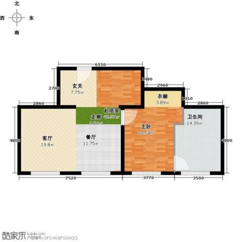 万科公园五号1室0厅1卫0厨92.00㎡户型图