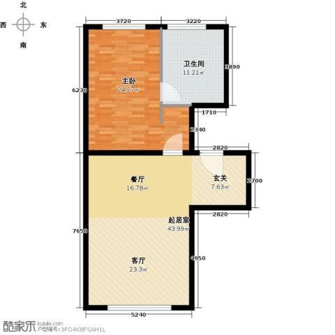 万科公园五号1室0厅1卫0厨87.00㎡户型图