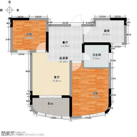 世纪东山2室0厅1卫1厨83.00㎡户型图