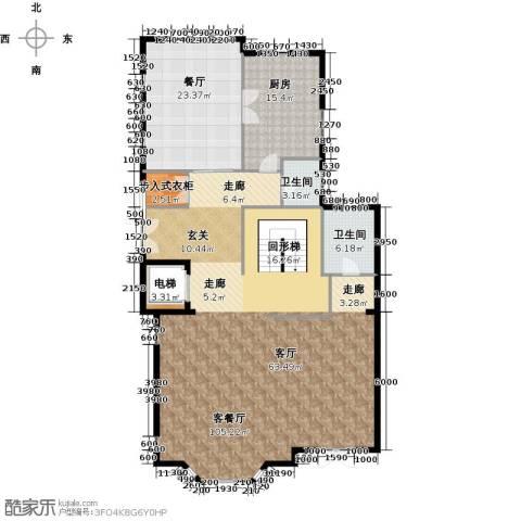 京基・鹭府2厅2卫1厨520.00㎡户型图