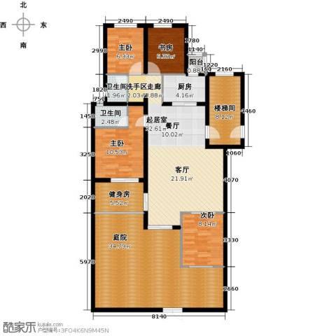 珑�庭4室0厅2卫1厨138.00㎡户型图
