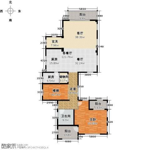 翡翠湾1室1厅1卫1厨215.00㎡户型图