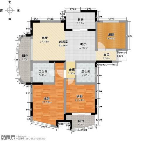 世纪东山2室0厅2卫1厨114.00㎡户型图