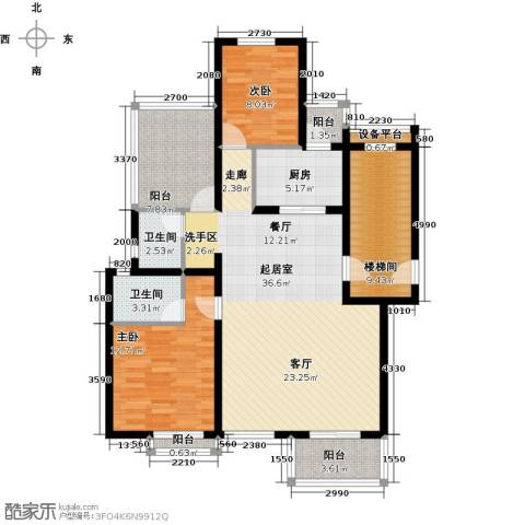 珑�庭2室0厅2卫1厨106.00㎡户型图