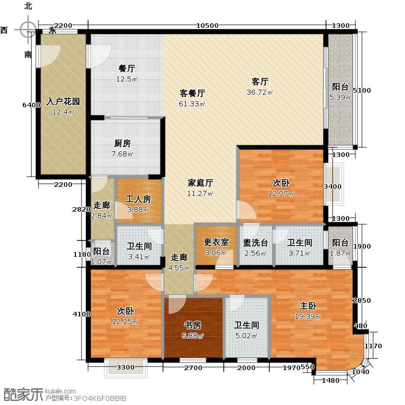 世纪新潮豪园182.49㎡标准层A户型4室1厅3卫1厨