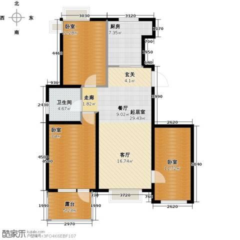 北京城建・琨廷1卫1厨117.00㎡户型图