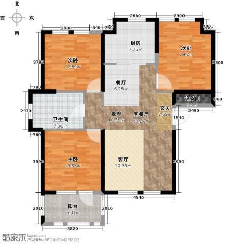 荣盛兰亭苑3室1厅1卫1厨111.00㎡户型图
