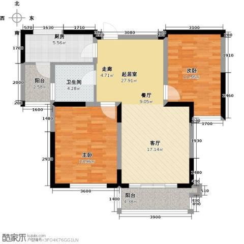仙林国际2室0厅1卫1厨101.00㎡户型图