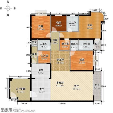世纪新潮豪园4室1厅3卫1厨225.00㎡户型图