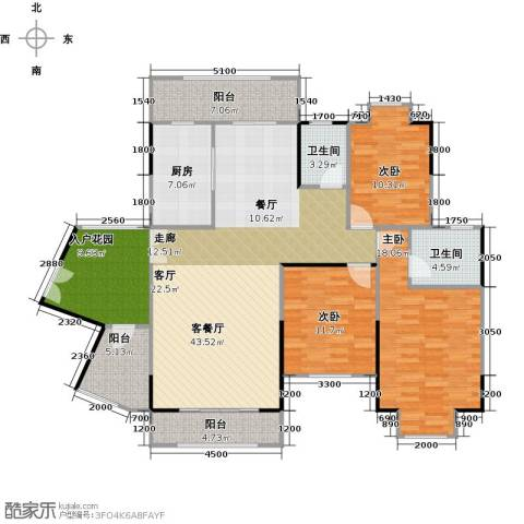 信基城3室1厅2卫1厨149.00㎡户型图