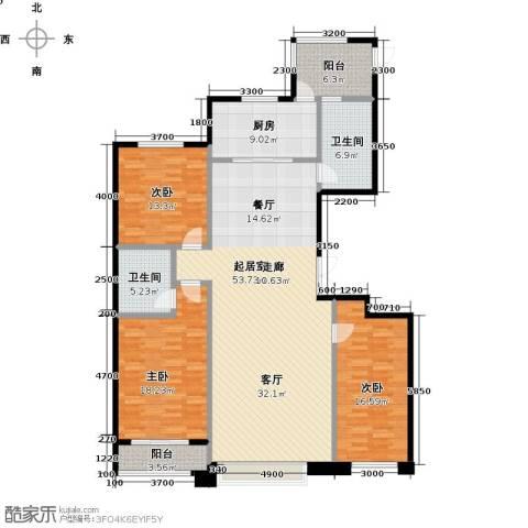博雅园3室0厅2卫1厨176.00㎡户型图