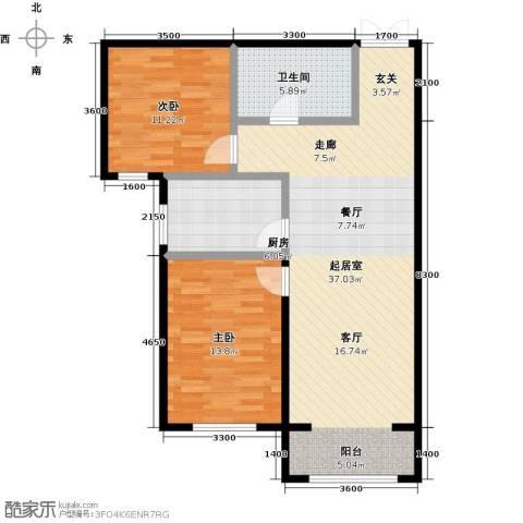博雅园2室0厅1卫1厨101.00㎡户型图