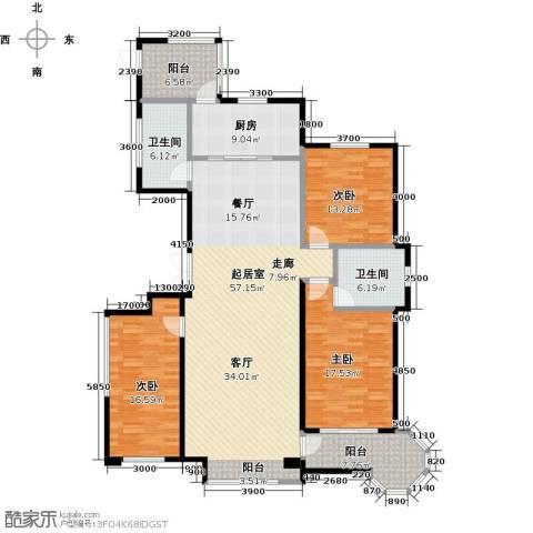 博雅园3室0厅2卫1厨181.00㎡户型图