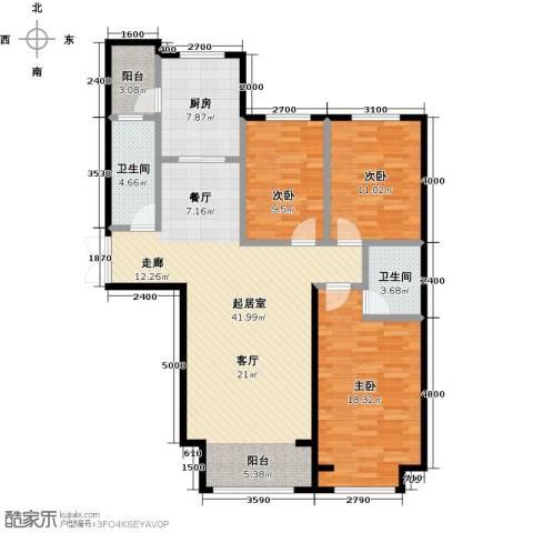 博雅园3室0厅2卫1厨134.00㎡户型图