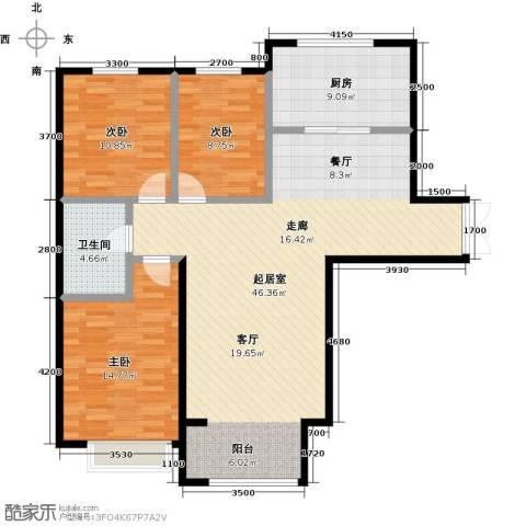 博雅园3室0厅1卫1厨129.00㎡户型图