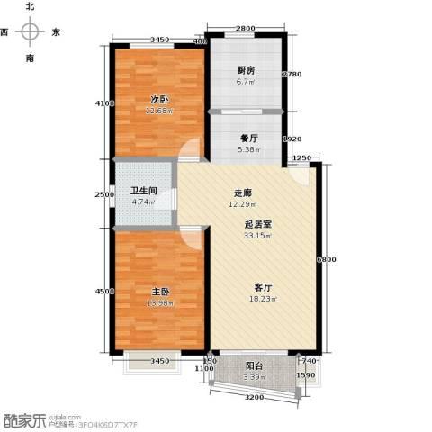 和一花园2室0厅1卫1厨86.00㎡户型图