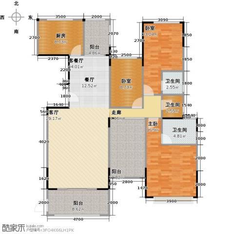 景湖荣郡1室1厅3卫1厨138.00㎡户型图