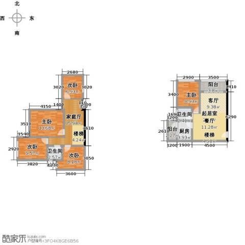 益田大运城邦5室0厅2卫1厨148.00㎡户型图