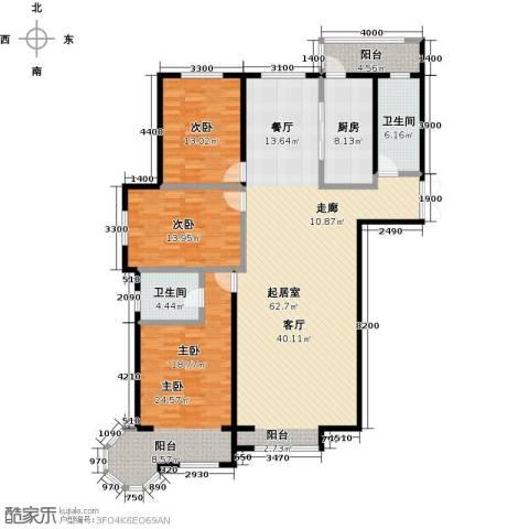 博雅园3室0厅2卫1厨183.00㎡户型图