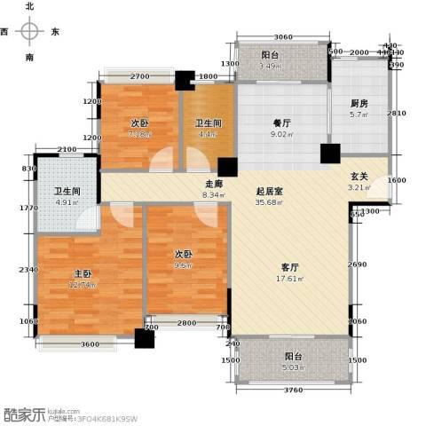 海伦春天3室0厅2卫1厨112.00㎡户型图