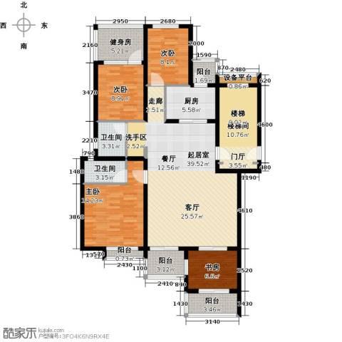 珑�庭4室0厅2卫1厨134.00㎡户型图