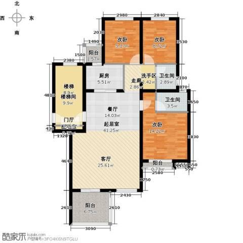 珑�庭3室0厅2卫1厨120.00㎡户型图