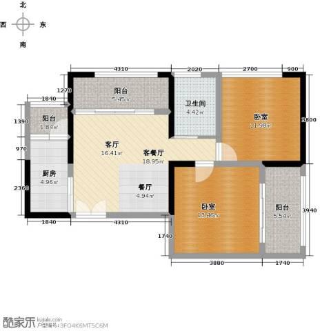 晓庄国际广场1厅1卫1厨78.00㎡户型图