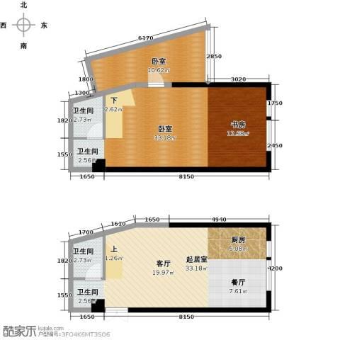 晓庄国际广场2卫0厨115.00㎡户型图