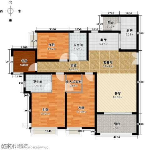 约克郡汀兰4室1厅2卫1厨134.00㎡户型图