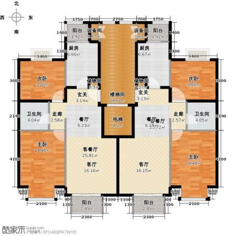 润泽悦溪4室2厅2卫2厨210.00㎡户型图