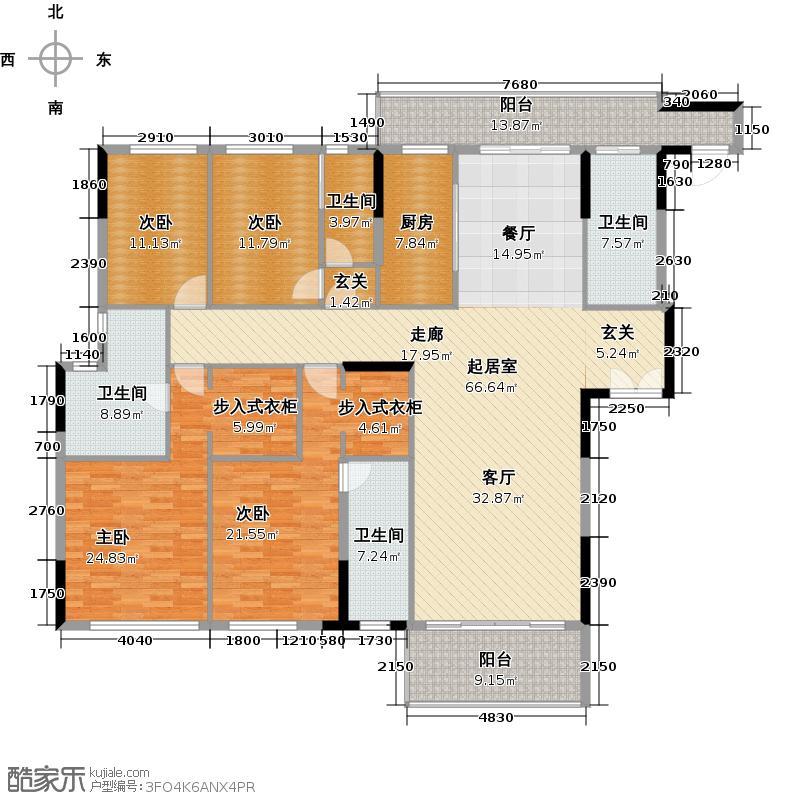 尚轩103267.00㎡4栋三至七层02户型4室4卫1厨