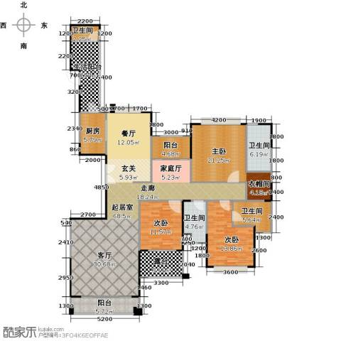 山语清晖花园3室0厅4卫1厨191.00㎡户型图