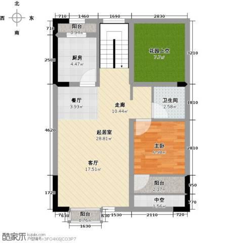 领峰1室0厅1卫1厨65.00㎡户型图