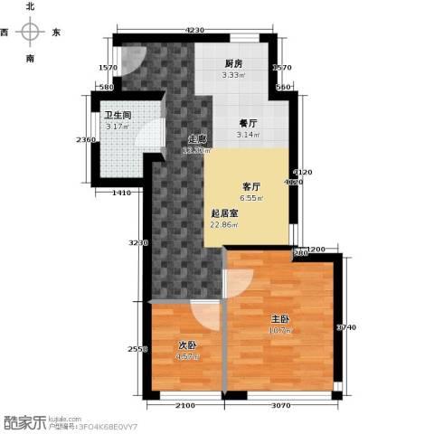 东骏朗晴居2室0厅1卫0厨58.00㎡户型图