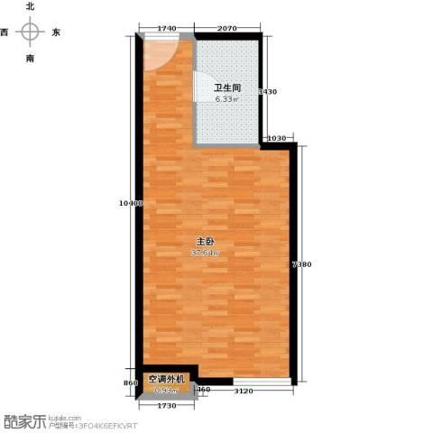 贵贤上品1室0厅1卫0厨50.00㎡户型图