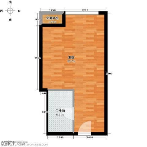 贵贤上品1室0厅1卫0厨44.00㎡户型图