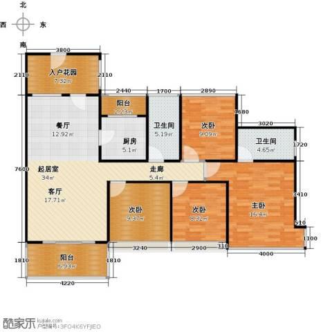 东港华府4室0厅2卫1厨130.00㎡户型图