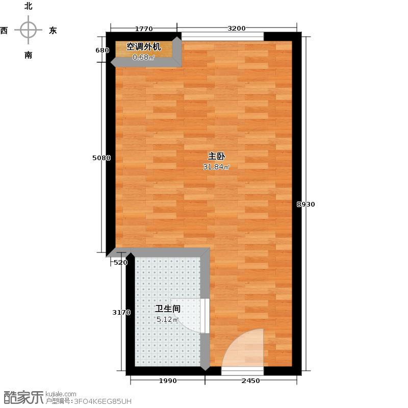贵贤上品43.00㎡8至19层平面图10户型1室1卫