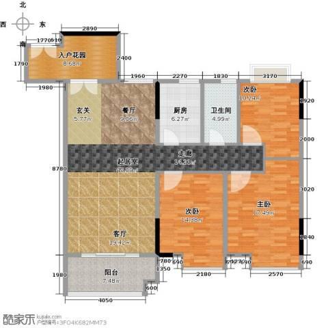 城央御景尚品3室0厅1卫1厨114.63㎡户型图