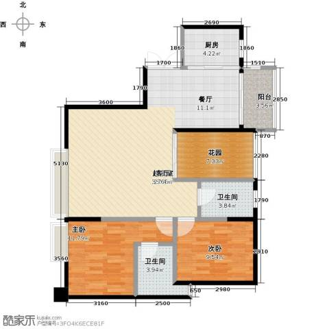 盈拓郦苑2室0厅2卫1厨112.00㎡户型图