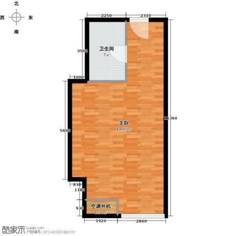贵贤上品1室0厅1卫0厨58.00㎡户型图
