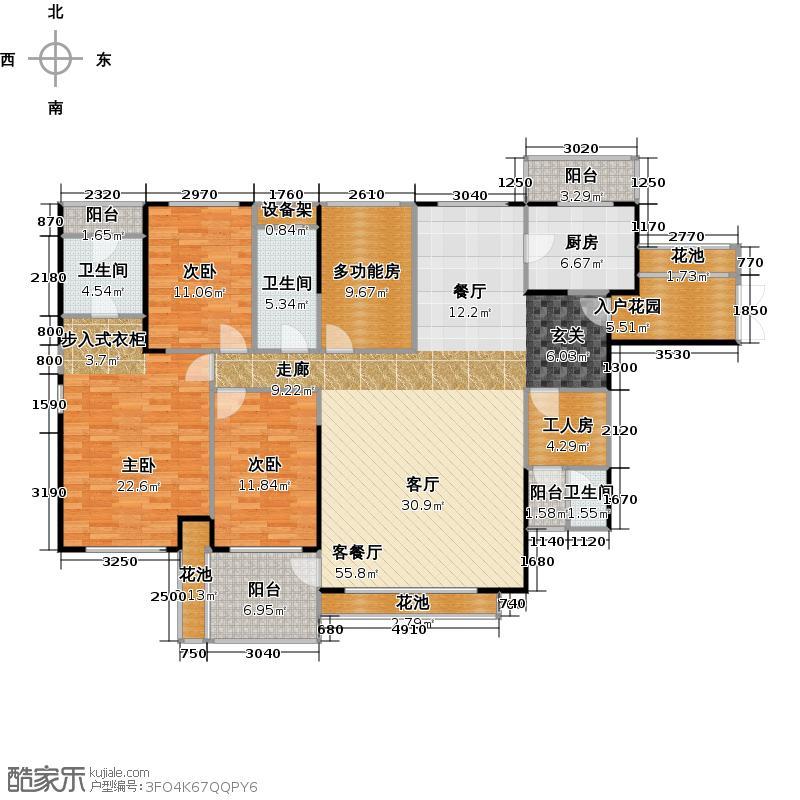 香山里173.00㎡1栋C(奇数层)户型3室1厅3卫1厨